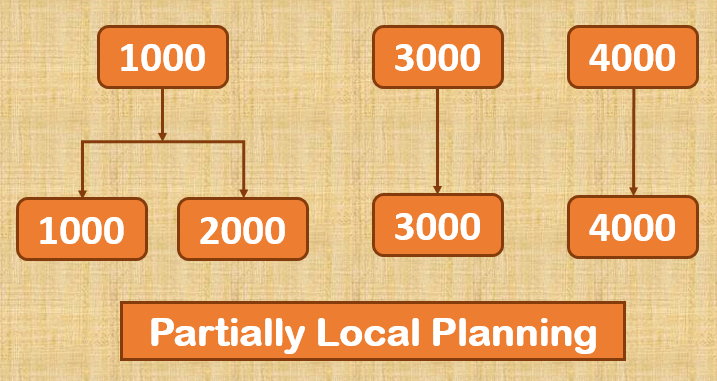 Partially Local Planning