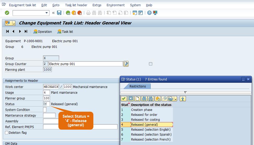 task List Status