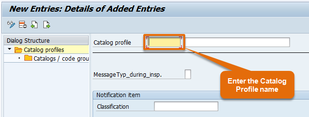 Catalog profile naming