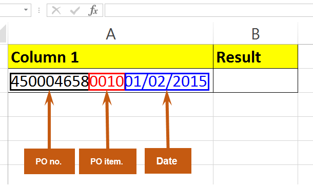 Right function in MS excel