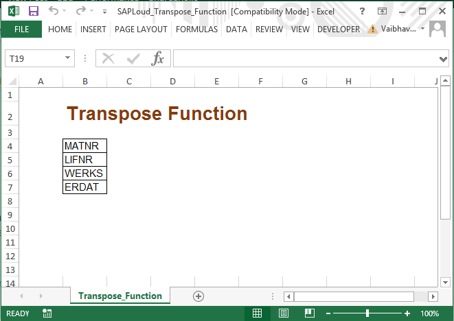 LSMW in MS excel