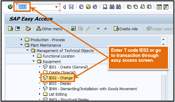 T code IE02